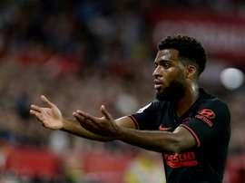 Lemar rend la vie difficile à l'Atlético. afp