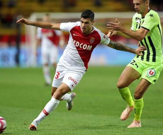 Monaco: le jeune Italien Pietro Pellegri se blesse à nouveau. AFP