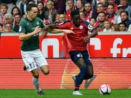 Le joueur de Lille Jonathan Bamba. AFP