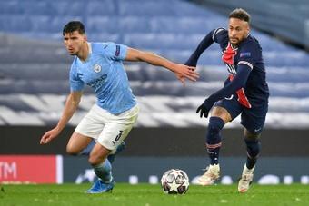 Ruben Dias espère que Lionel Messi jouera face à Manchester City. afp