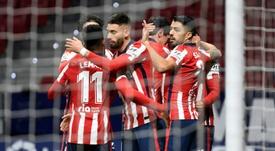 La fête continue à l'Atlético. AFP