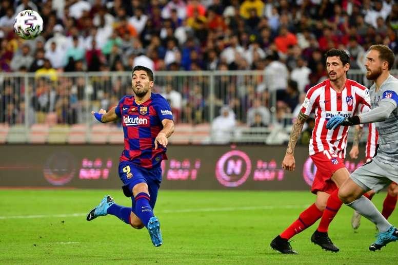 Luis Suárez habría dado el visto bueno a la propuesta del Atlético. AFP