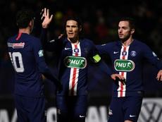Coupe de France: Cavani et les remplaçants lancent le Paris SG. AFP