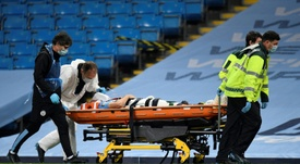Eric Garcia recebeu alta um dia após a lesão. AFP