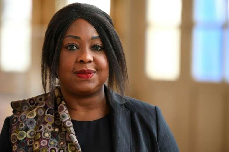Fatma Samoura, secrétaire générale de la Fédération internationale du football. AFP
