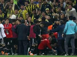 La Federación Turca rechazó el recurso del Besiktas. AFP