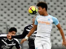 Le défenseur de l'OM Boubacar Kamara lors du match contre Bordeaux. AFP
