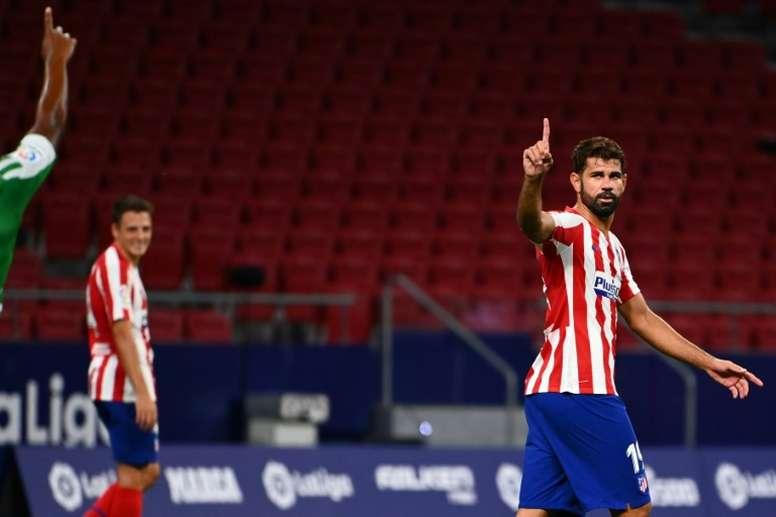 Diego Costa touché par des effets secondaires de la Covid-19 ? AFP