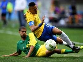 Neymar n'a rien pu faire pour sauver son équipe du match nul. AFP