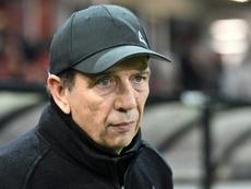 Le nouvel entraîneur de Saint-Etienne Jean-Louis Gasset lors d'un match à Guingamp. AFP