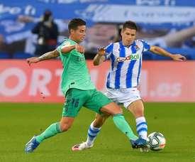 James ne perd pas l'espoir de rejoindre l'Atlético Madrid. AFP