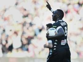 Le Sénégalais Famara Diedhiou, buteur avec Angers contre Nantes à La Beaujoire. AFP