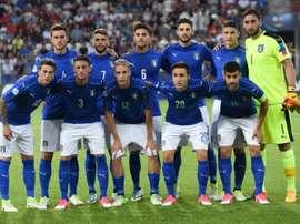 Les Espoirs italiens avant leur match contre l'Allemagne, le 24 juin 2017 à Cravovie. AFP