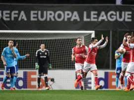 O golo de Ricardo Horta acabou por ser insuficiente. AFP