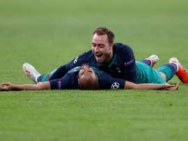 A Juventus terá perguntado por Eriksen. AFP