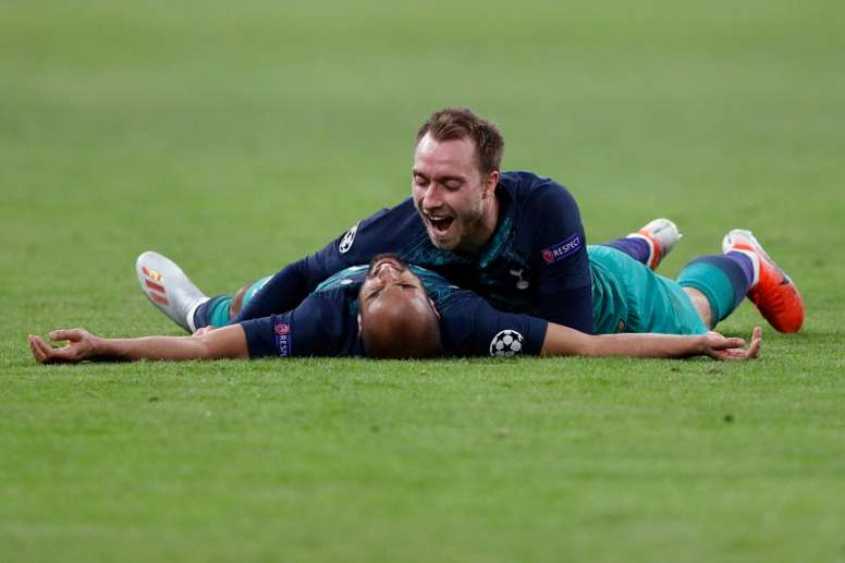 Eriksen appears as an alternative to James at Atletico Madrid. AFP