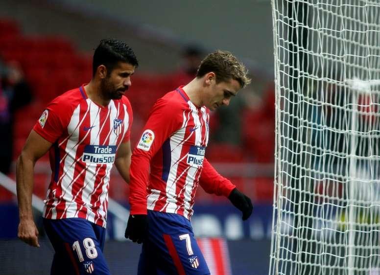 Griezmann no está viviendo su mejor año goleador. AFP