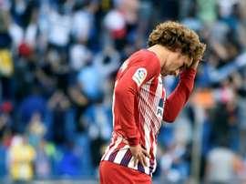 Antoine Griezmann lors de la défaite 3-0 face à l'Espanyol. AFP