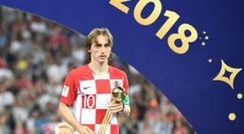 Modric, toujours leader d'une grande Croatie. AFP