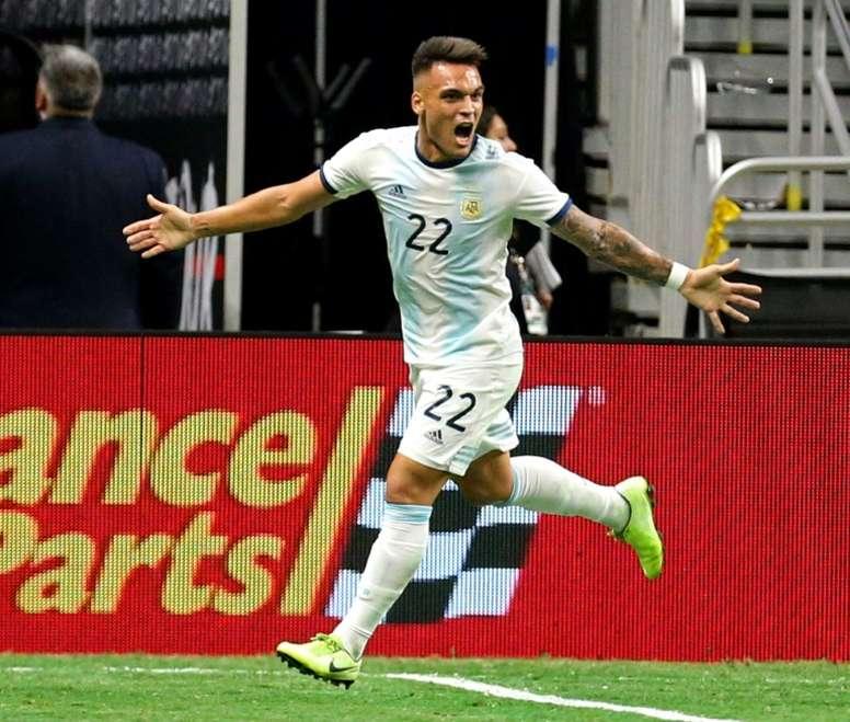 L'Argentine étrille le Mexique grâce au triplé de Martinez. AFP