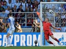 Halldorsson contre l'Argentine au Mondial le 16 juin. AFP