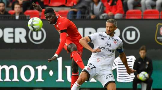 The signature of Rennes striker Ismaila Sarr is being chased by many big clubs. AFP