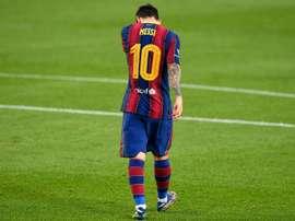 Messi, prié de rester mais privé de sa garde rapprochée. afp