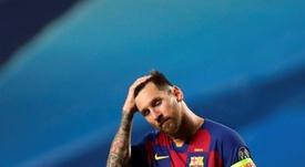 Leo Messi no atraviesa, ni de cerca, su mejor momento en el Barça. AFP/Archivo