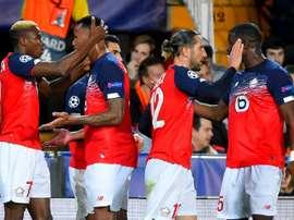 Les compos probables du match de Ligue 1 entre Lille et Brest. AFP