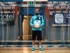 Ricardinho, vedette de l'équipe du Portugal de futsal, lors dune séance d'entraînement. AFP