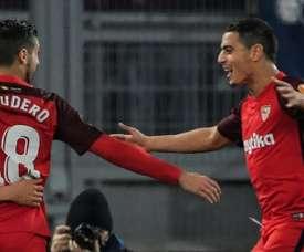 Séville FC a ramené un court mais précieux succès contre la Lazio lors du match aller. AFP