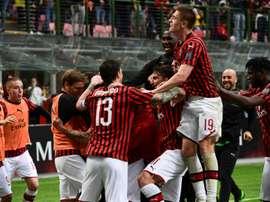 Milan pede para não jogar a Europa League. AFP