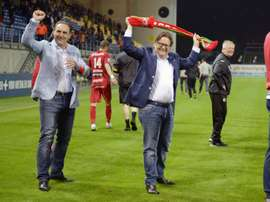 Le président du KV Ostende Marc Coucke à Beveren en Belgique. AFO
