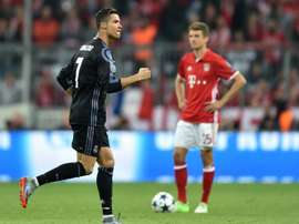 Ronaldo scored two goals at the Allianz Arena.