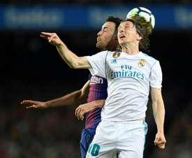 Modric parece haber dejado clara su intención de seguir en el Madrid. AFP