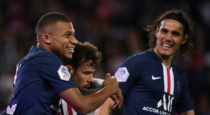 Mbappé left Cavani out of the squad. AFP