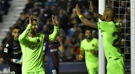 Messi confirmed his legendary status with a superb display against Levante. AFP