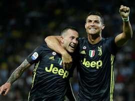 Juventus' match-winners: Cristiano Ronaldo and Federico Bernardeschi. AFP