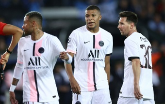 Mbappé ha perdido protagonismo con la llegada de Messi al PSG. AFP
