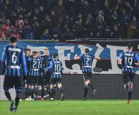 Les joueurs de l'Atalanta. AFP