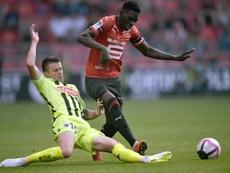 Ismaila Sarr buteur lors de la victoire contre Angers 1-0. AFP