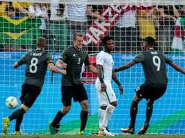Lukas Klostermann buteur pour l'Allemagne face au Nigeria aux Jeux de Rio. AFP
