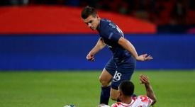 Lo Celso celebró con gol su primera titularidad. AFP
