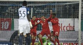 Müller barre el susto y las dudas. AFP