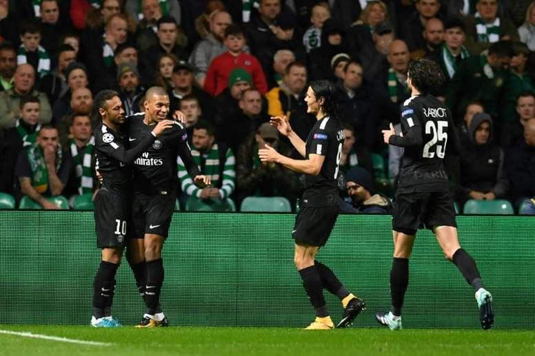 PSG goleia Celtic na estreia da Champions. AFP
