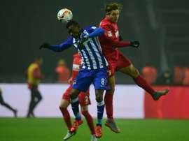 El Hertha ha clavado otro clavo en el ataúd del Augsburgo. AFP/Archivo