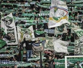 Les supporters de Saint-Etienne. AFP