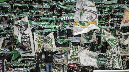 Les supporters de Saint-Etienne. AFP