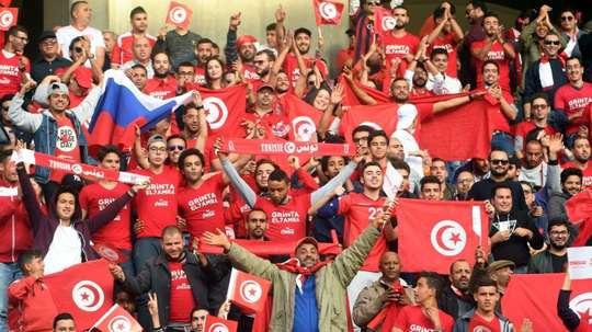 Les supporters tunisiens euphoriques derrière les Aigles de Carthage opposé à la Libye. AFP