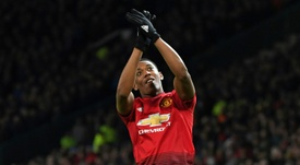 Anthony Martial has been in hot form for United. AFP